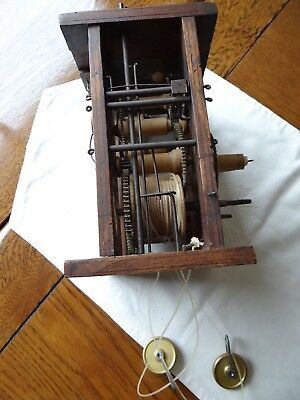 antique weight driven movement from shield clock