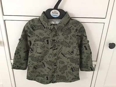 Baby Boys M&S Long Sleeve Shirt .. Age 6 to 9 mths