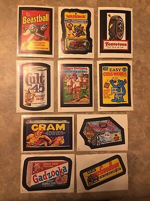 1982 Topps Wacky Packages Lot of 10  Stickers