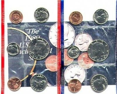 1989 COMPLETE UNITED STATES US MINT COIN SET. U.S. MINT. Free Delivery