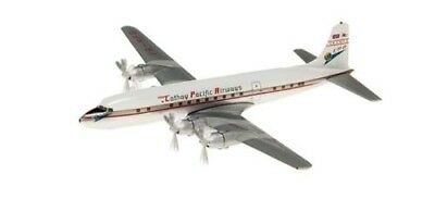 Herpa Wings Cathay Pacific DC-6B 1/400 Scale Model Aeroplane. Shipping is Free