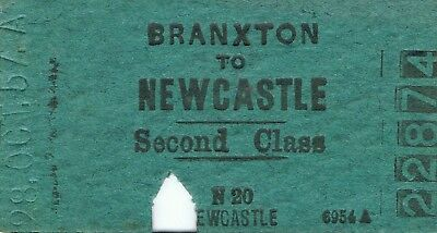 Railway ticket a trip from Branxton to Newcastle by the old NSWGR in 1957