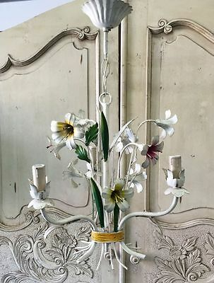 French Vintage Floral Tole Chandelier Metal Hanging Lamp Christmas  Gift - i002
