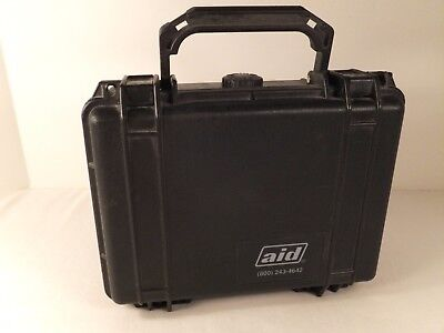 "Aid Lockable Hard Storage Carry Case w/ Pressure Purge 8 3/8"" x 6"" x 3 1/2"""