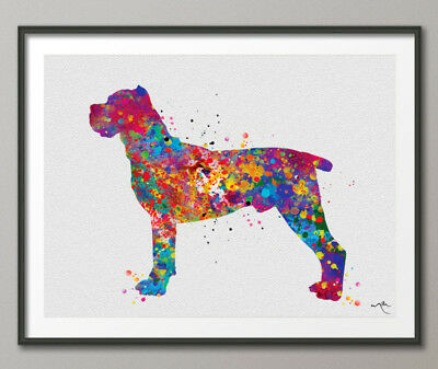 Cane Corso Watercolor Print Cane Corso Art Print Poster Dog Breed Dog Art Poster