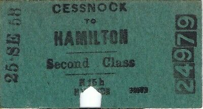 Railway ticket a trip from Cessnock to Hamilton by the old NSWGR and SMR in 1958