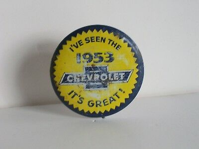 1953 Chevrolet Tin Pinback Button