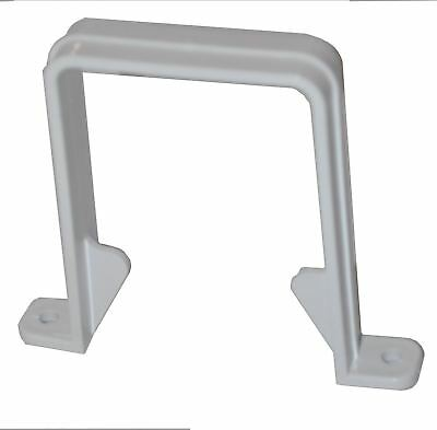 Square Downpipe Bracket - White - PACK OF 5