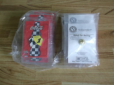 Set of 6 Thirst for Racing tac pins [sealed] Coca Cola & Nascar - each different