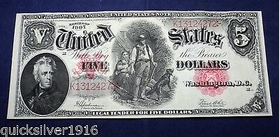 1907 $5 United States Bank Note (Wood Chopper)