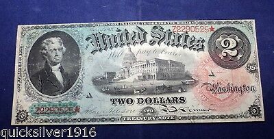 1869 $2 United States Legal Tender Replacement Bank Note (STAR)