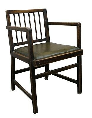 King George Vi- 1948 Beech Frank Lloyd Wright Style Open Arm Dining Chair Carver