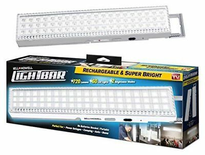 NEW   LIGHT BAR by Bell Howell 60 LED Rechargeable Weather-Proof Home and Garden