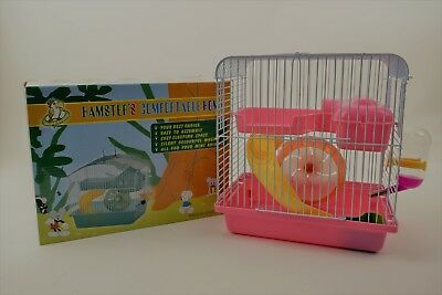 "New 9"" Hamster Confortable Home Two Levels Cage Small Animal"