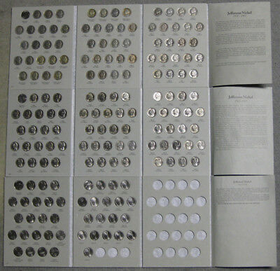 1938 through 2013 Nice Circulated and Uncirculated Jefferson Nickel 170pc Set