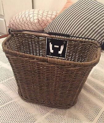 Brand new Bike Bicycle Basket Wicker Front D Shape With Handle Womens