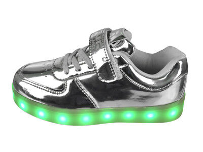 FREE SHIP! LED Light Up Shoes Baby Girl USB Lot 12Prs $10.99/Pr-ABL001ISIL