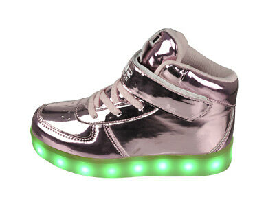 FREE SHIP! LED Light Up Shoes Baby Girl USB Lot 12Prs $10.99/Pr-ABL003IPNK