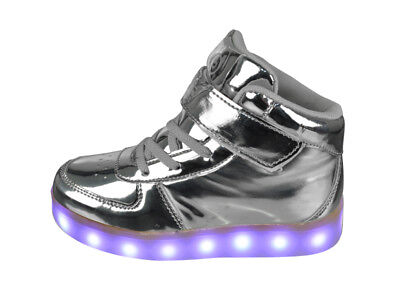 FREE SHIP! LED Light Up Shoes Baby Girl USB Lot 12Prs $10.99/Pr-ABL003ISIL