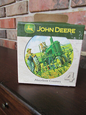 John Deere Green Coasters- Withcollie Dog