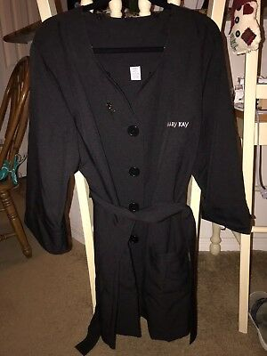 Mary Kay Consultant Beauty Coat/Smock, Black, Size 2XL Excellent Used Condition