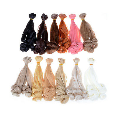 wholesales Extension Hair Natural Color Curly Wigs for*BJD Dolls