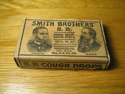 Antique Smith Brothers' Cardboard, Empty Cough Drop Box