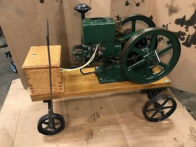 Antique Hit Miss Engine Fautless Or Dairy Maid Engine Staionary Steam Tractor
