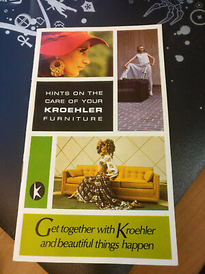 Hints on the Care of Your Krehler Furniture Booklet - 1969