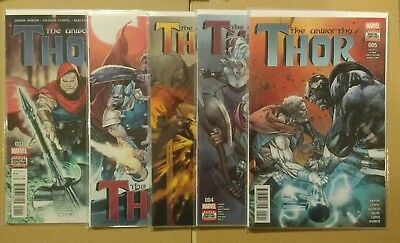 The Unworthy Thor x 5 Issues #1 #2 #3 #4 #5 Marvel Comics