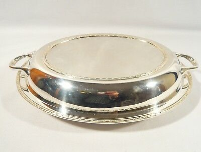 Antique Silver Plate OVAL COVERED Serving DISH Casserole James Deakin & Sons