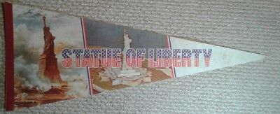 Vintage Statue of Liberty Full Size Pennant New York