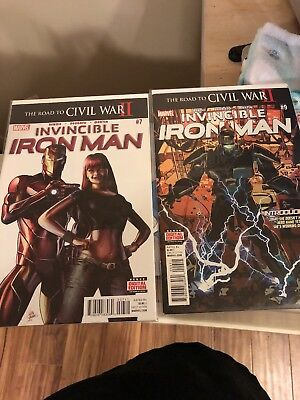 Invincible Iron Man #7 & 9 first Riri Williams and iron heart 1st prints