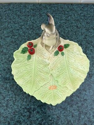 Wembley Ware Grey Rabbit Leaf Dish