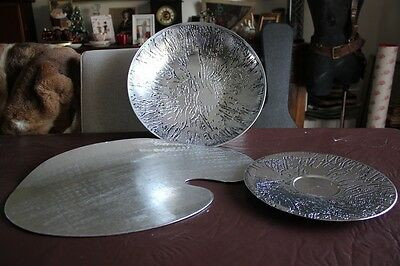 3 X Pieces DON SHEIL SERVING PLATE Acid Etched Center Piece