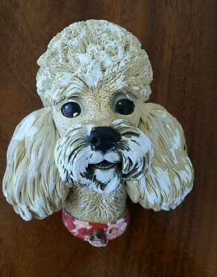 Bossons Poodle Wall Plaque Chalkware - Made In England