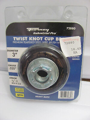 Forney 72880 Wire Cup Brush Industrial Pro Twist Knot Safety Guard 5/8-Inch-11