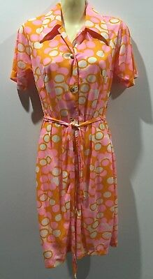 ORIGINAL 1960's N.O.S VINTAGE SEARO SUMMER DRESS SIZE 12 psychedelic hippy boho
