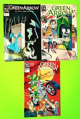 Green Arrow Lot 3 Issues #18,20,25 Mike Grell, Dc 1989, Nm-9.2, Uncertified