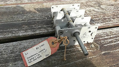 NOS WW2  R208 receiver Tuning Variable Capacitor Unit