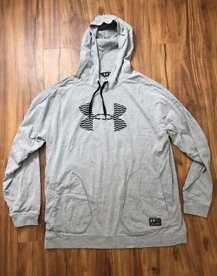 Under Armour Cold Gear Men's Hooded Long Sleeve Top Size 2XL Gray