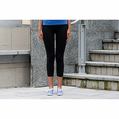 SF Ladies 3/4 Leggings Womens Cropped Length Skin Fit Casual Wear Tight Pants