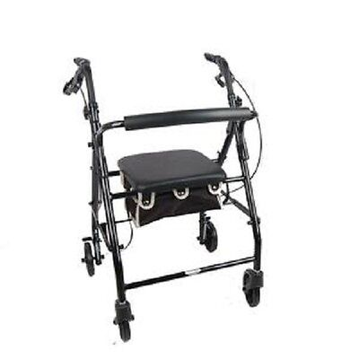 New Cardinal Health™ Contoured-Back Soft Seat Rollator,  Black