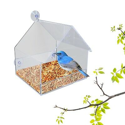 PetsN'all Clear Window Bird Watching Feeder ( 7.9 * 6.3 * 7.1 inches)