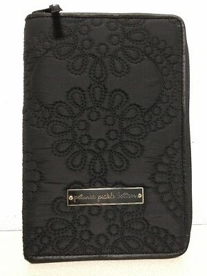 Petunia Pickle Bottom Beginnings Baby Record Book - Black Quilted Cover