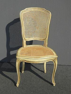 Vintage French Provincial Country Cottage Cane ACCENT CHAIR Desk Chair
