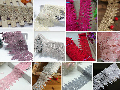 1 Yard, Lace Trim Ribbon For Dress Skirt Veil Embroidered DIY Sewing Craft A54