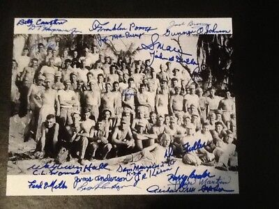 HBO The Pacific WWII signed autographed photo AUTO Iwo Jima Guadalcanal USMC