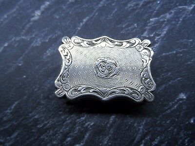 Antique Vinaigrette Sterling Silver 1831 Edward Smith Without Tray.