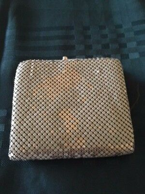 Vintage Glo mesh white tri-fold wallet with coin purse